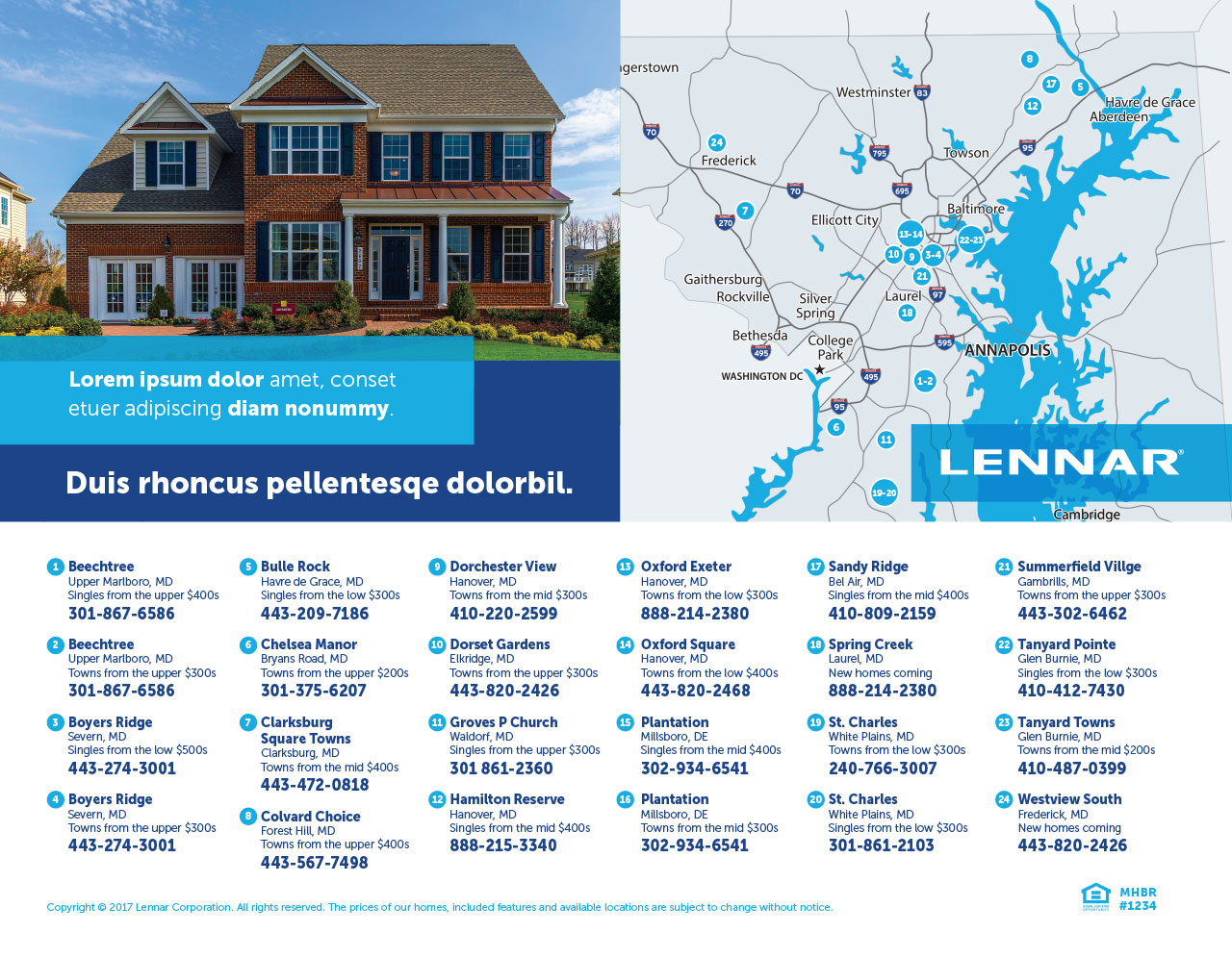 Home Builder Advertising Flyer