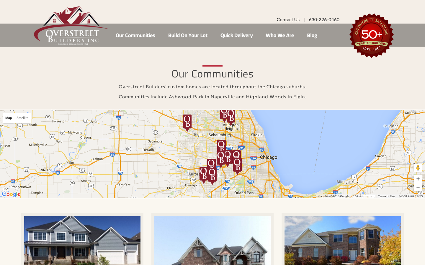 Overstreet Builders Website Community Listings