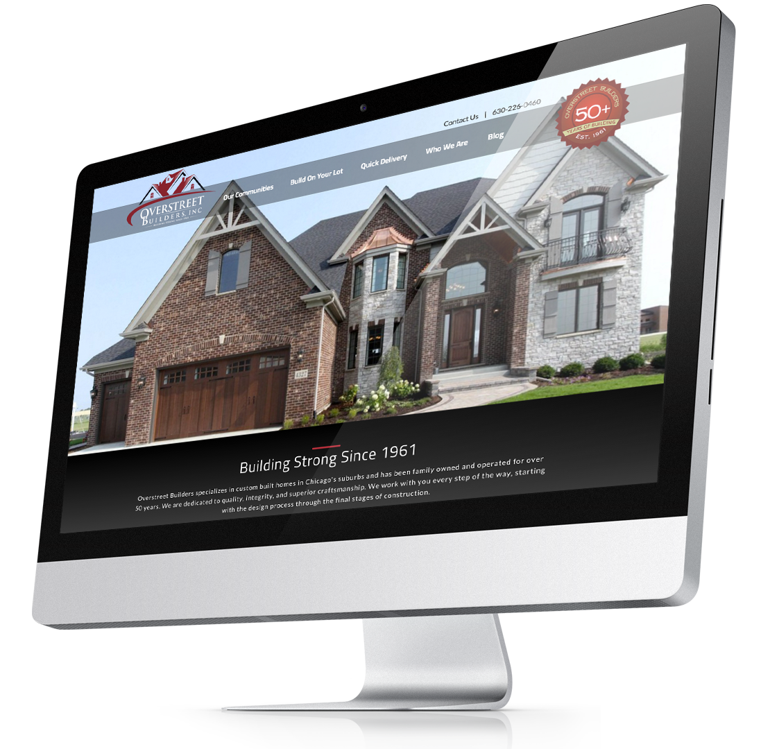 Overstreet Builders Website Design