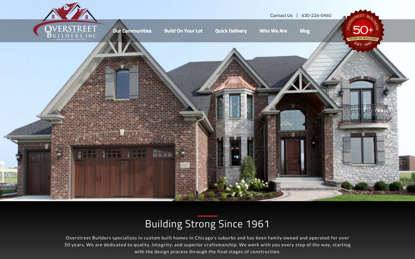 Overstreet Builders Website