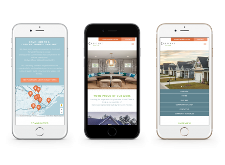 Home Builder Websites for Crescent Homes