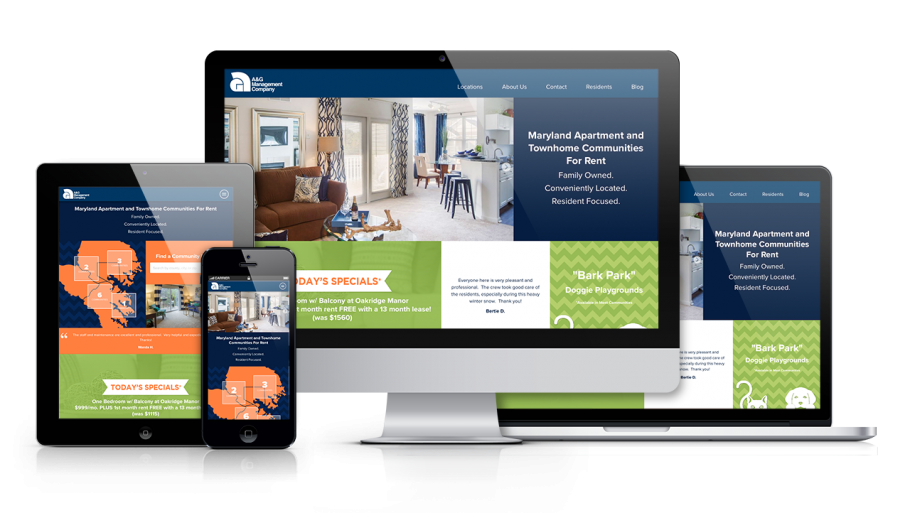 Home Builder Website Design for A&G Management
