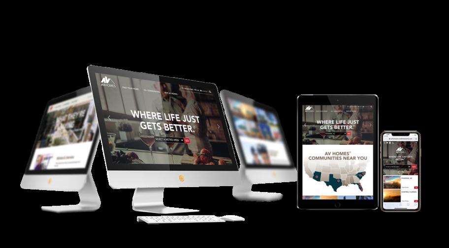 Home Builder Website Design for AV Homes