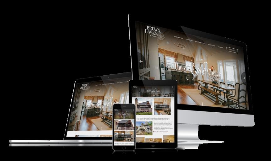 Home Builder Website Design for Brown Haven Homes