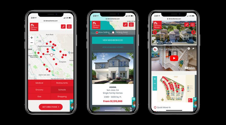 Home Builder Website Design for DeNova Homes
