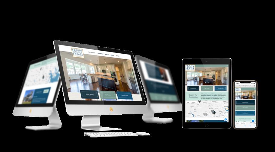 Home Builder Website Design for Dorsey Family Homes