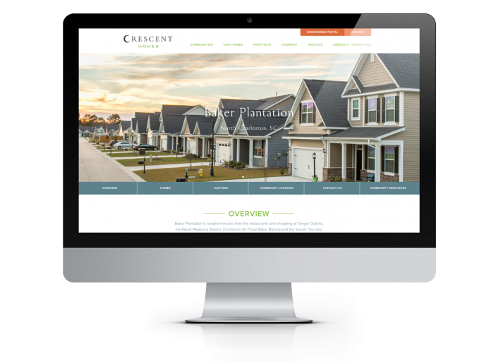 Crescent Homes Website Design