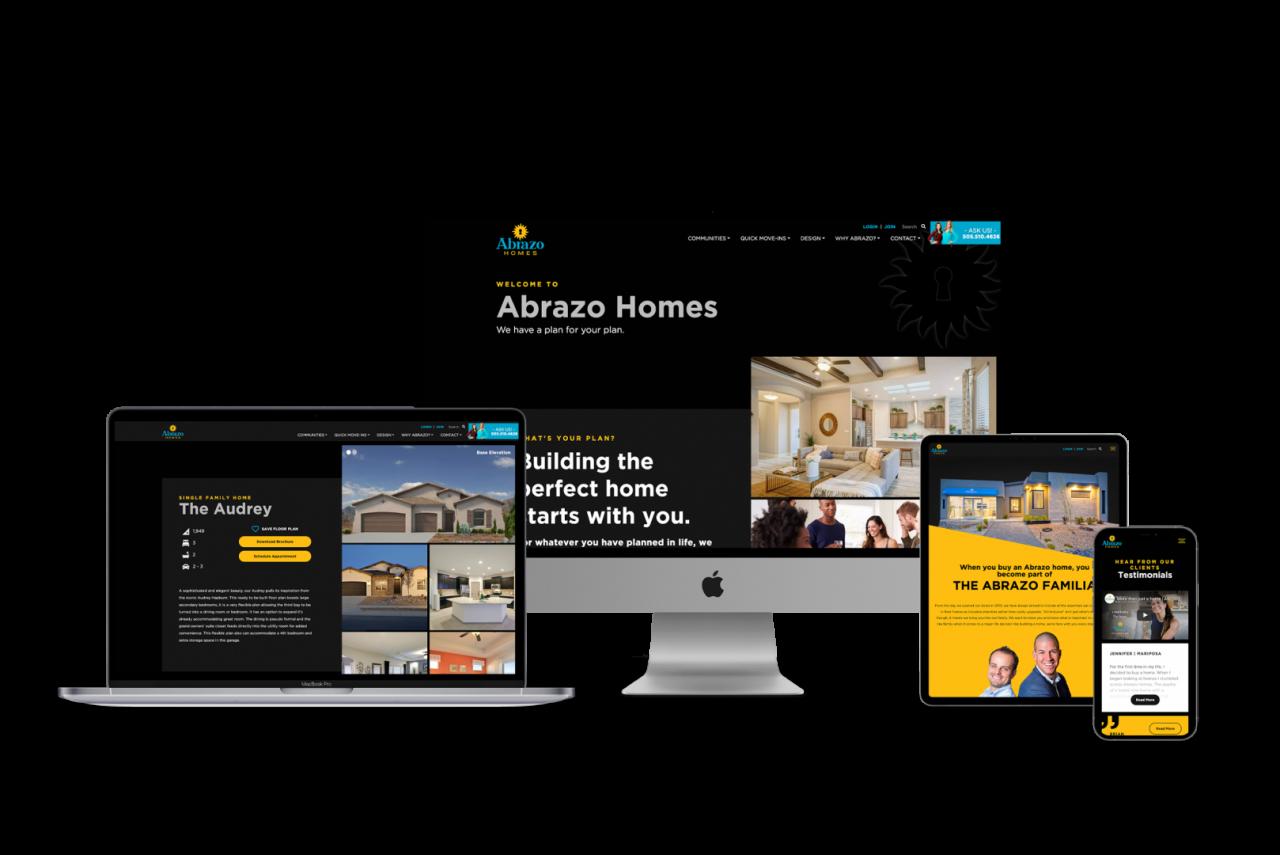 Home Builder Website Design for Abrazo Homes
