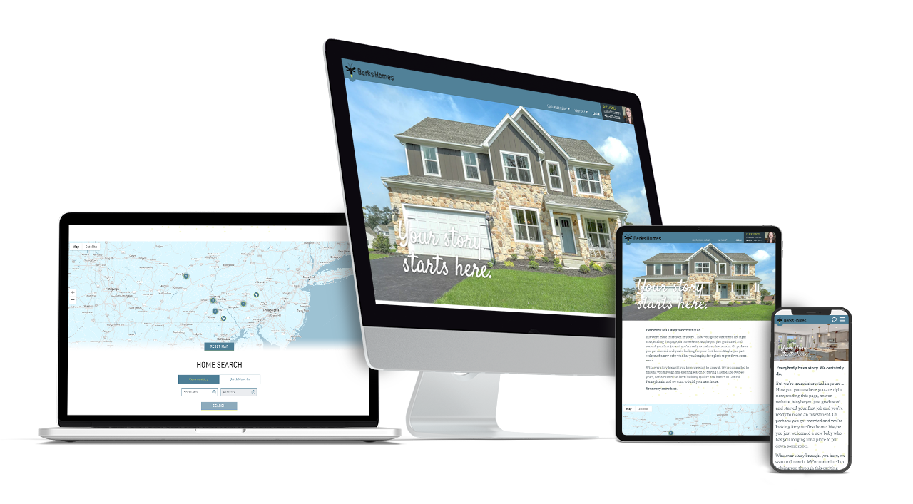 Home Builder Website Design for Berks Homes