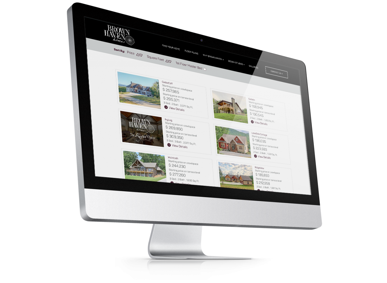 Brown Haven Homes Website Design