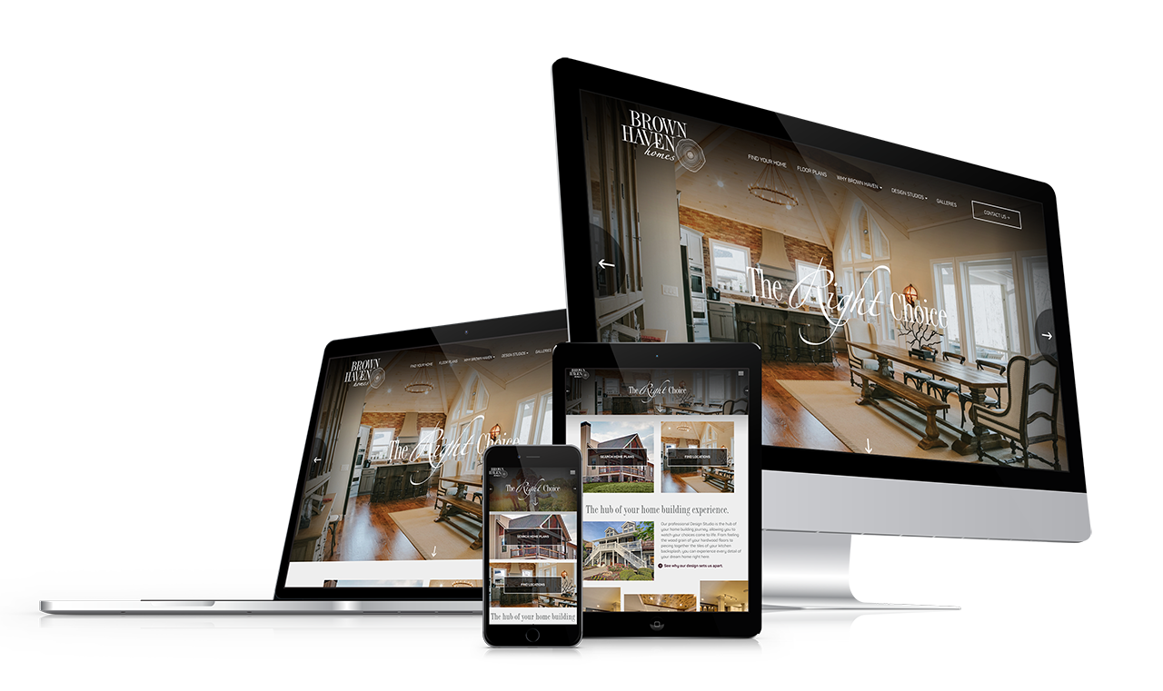 Home Builder Website Design for Brown Haven Homes
