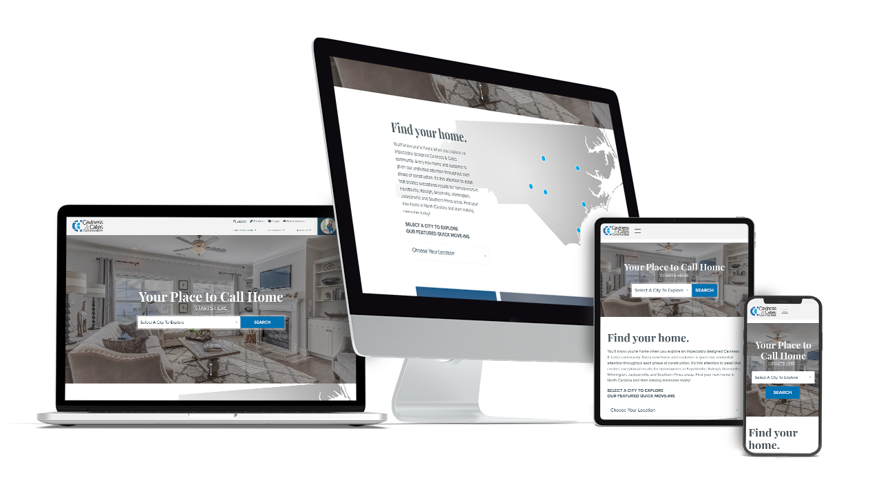 Home Builder Website Design for Caviness & Cates