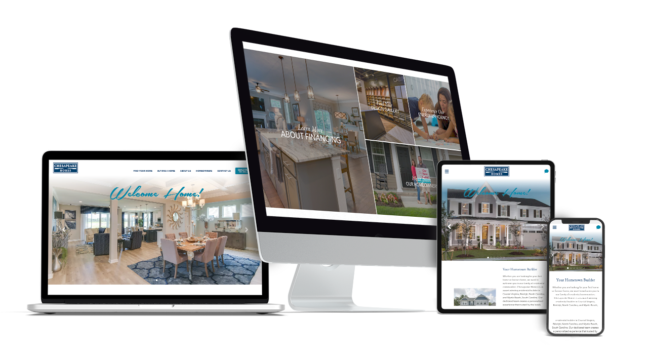 Home Builder Website Design for Chesapeake Homes