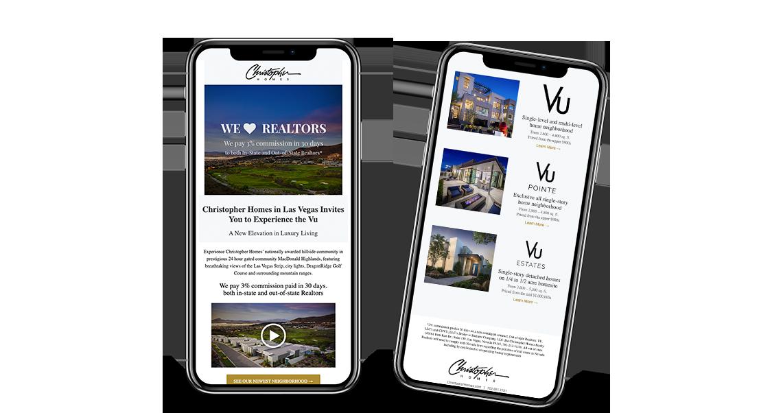 Home Builder Website Design for Christopher Homes