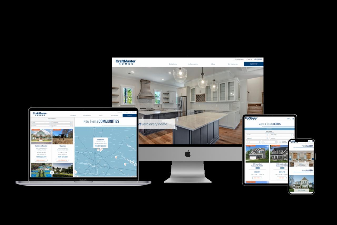 Home Builder Website Design for Craftmaster Homes