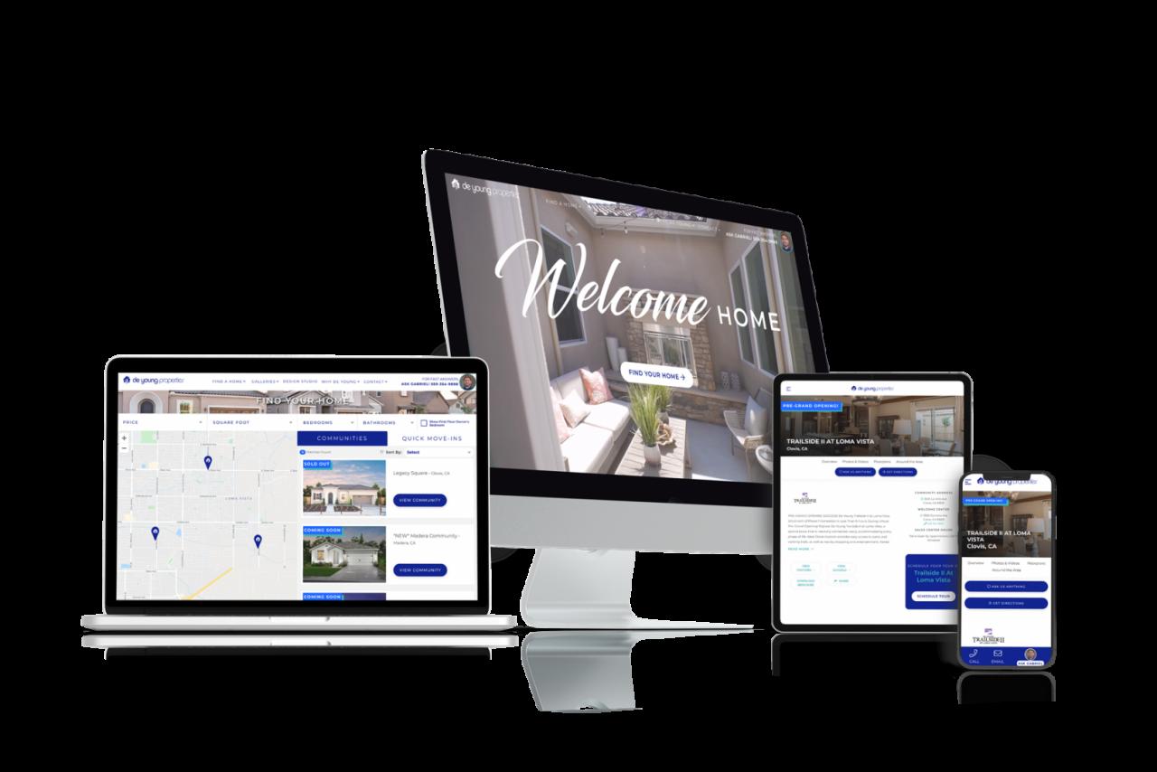 Home Builder Website Design for De Young Properties