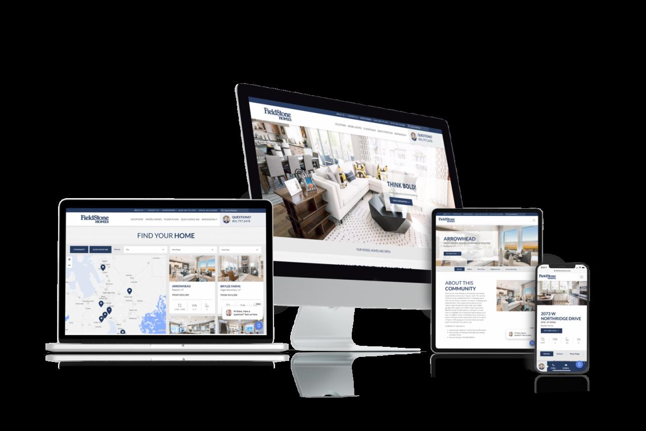 Home Builder Website Design for Fieldstone Homes