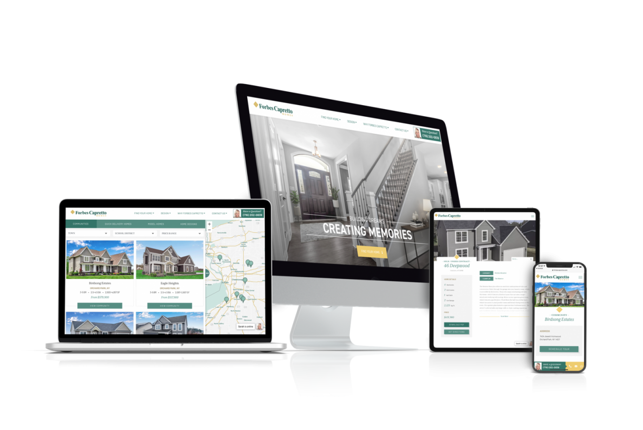 Home Builder Website Design for Forbes Capretto