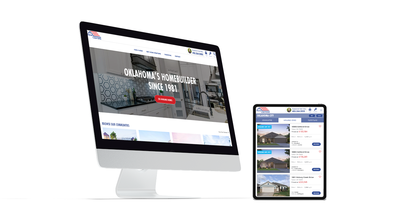 Home Builder Website Design for Home Creations