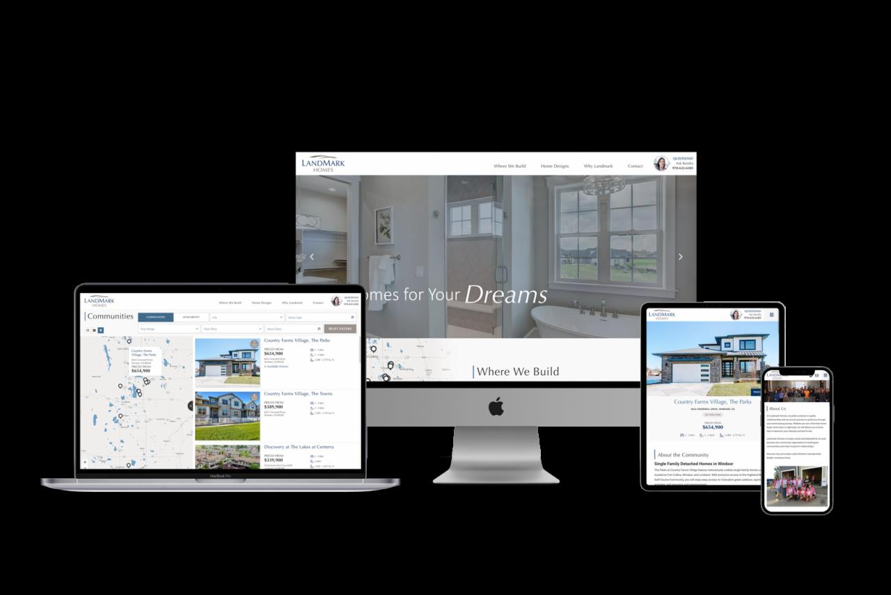 Home Builder Website Design for Landmark Homes