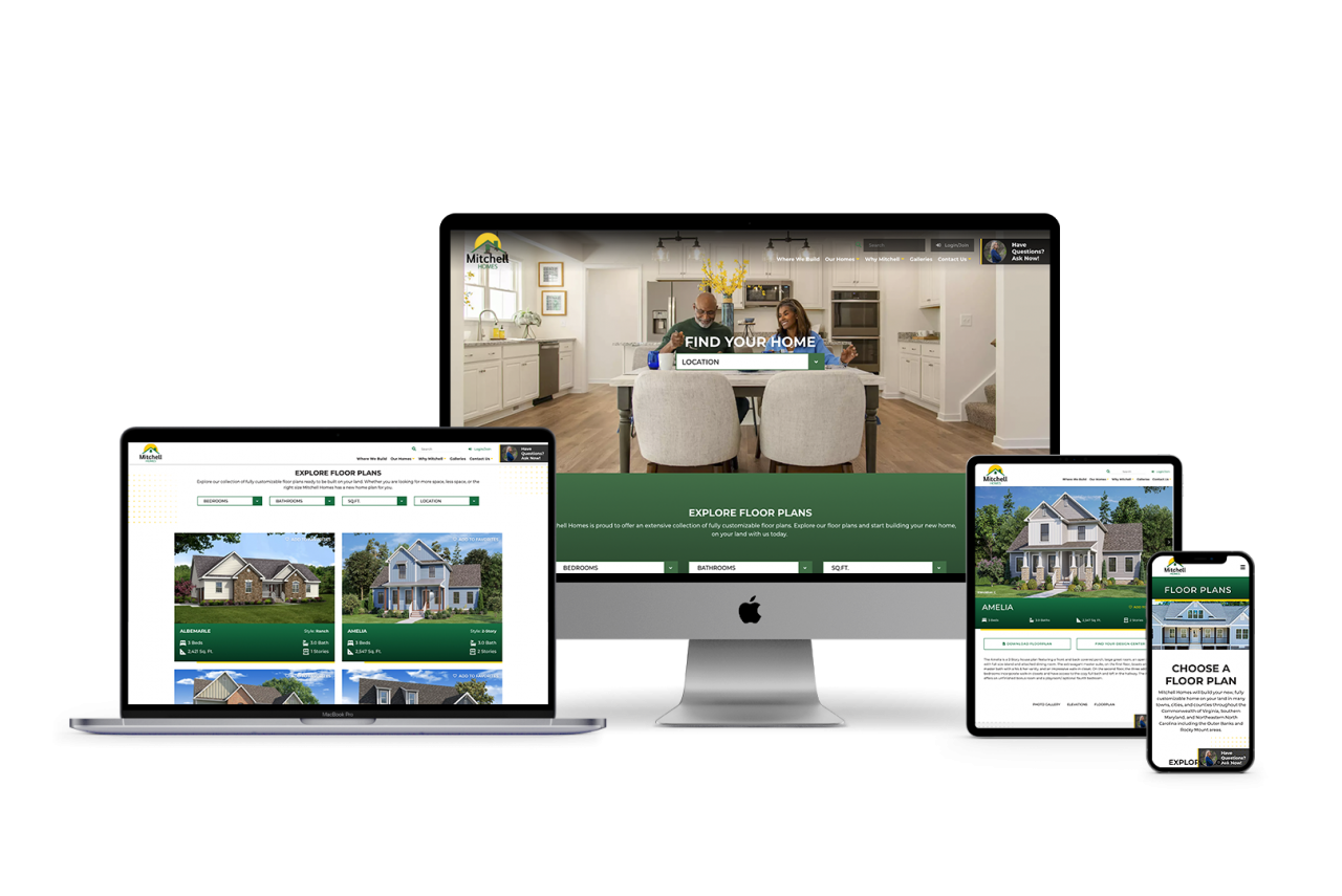 Home Builder Website Design for Mitchell Homes