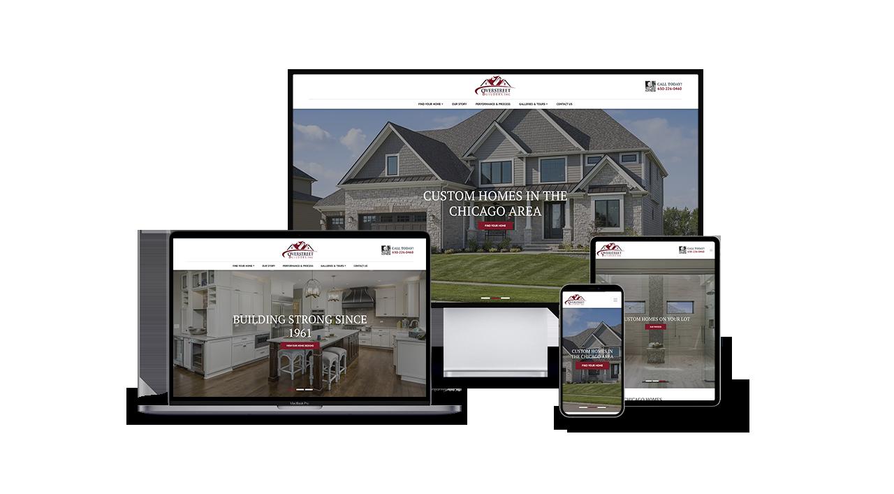 Home Builder Website Design for Overstreet Builders
