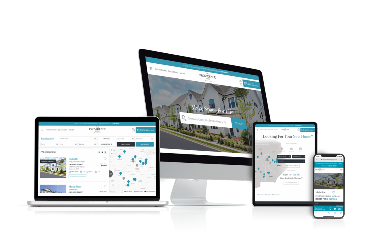 Home Builder Website Design for The Providence Group