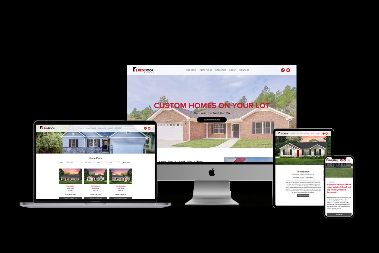 Home Builder Website Design for Red Door Homes