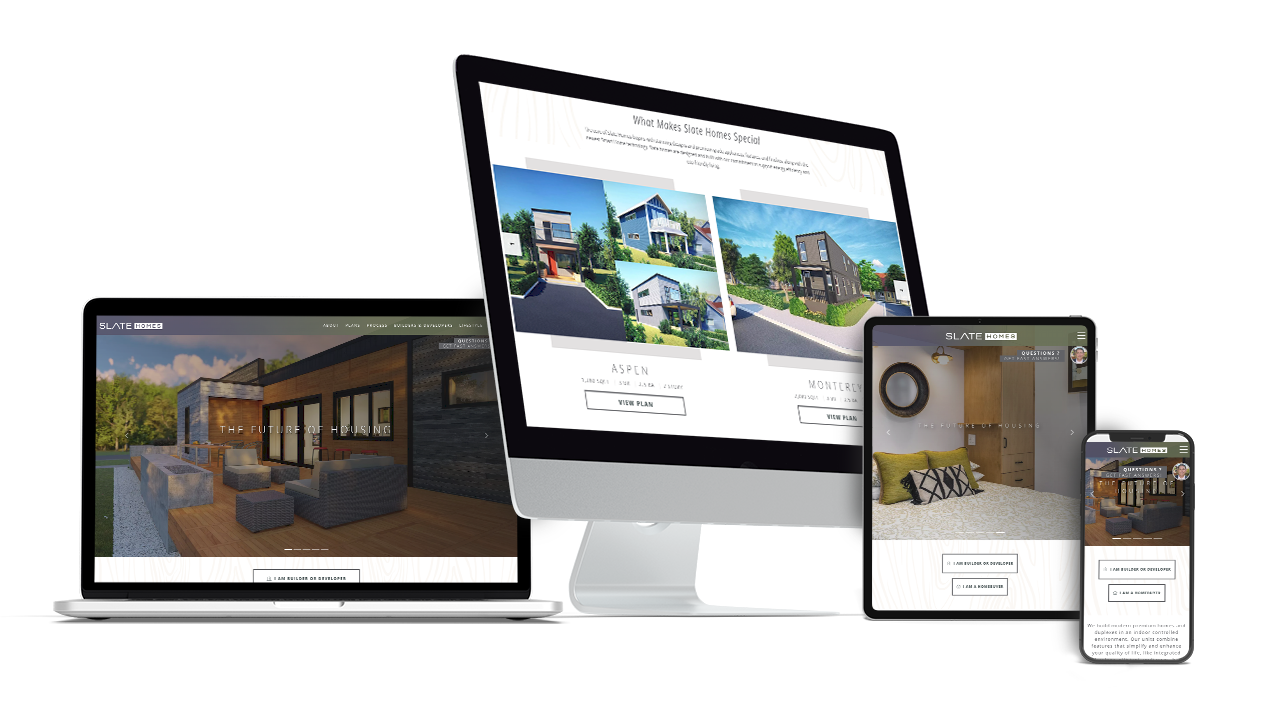 Home Builder Website Design for Slate Homes