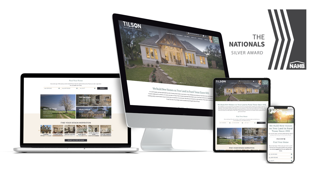 Home Builder Website Design for Tilson Homes