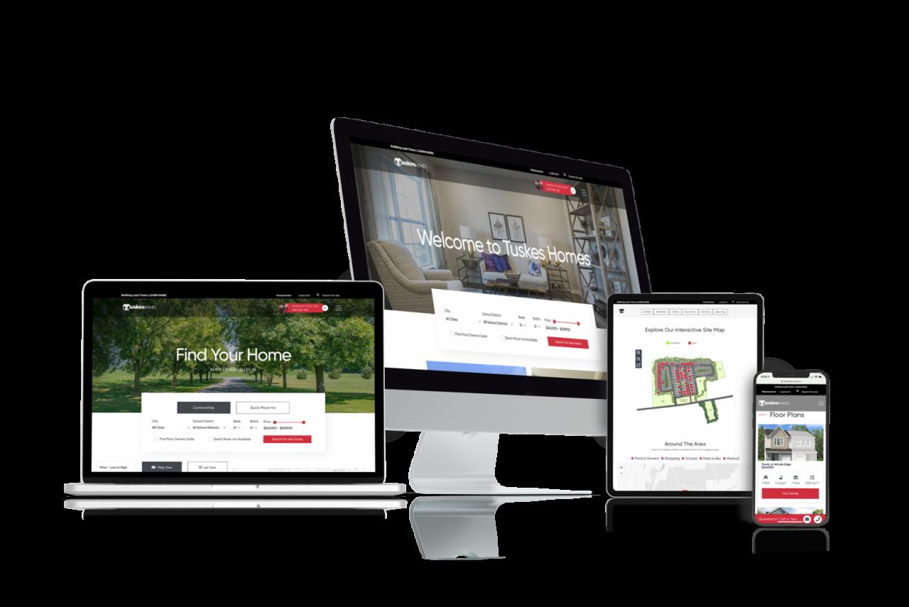 Home Builder Website Design for Tuskes Homes