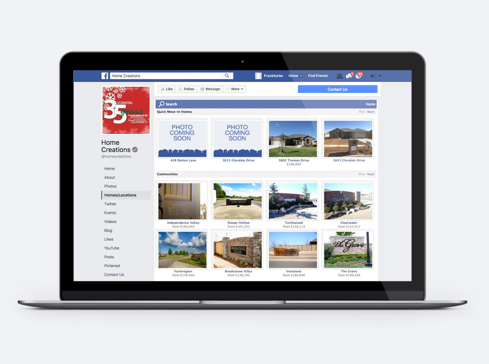 Facebook App for Home Builders