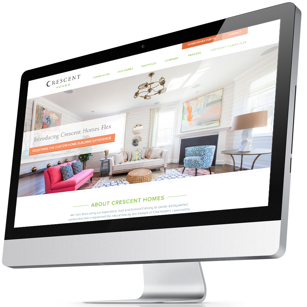 Home Builder Website Design for Crescent Homes