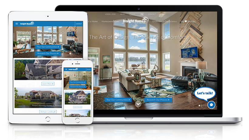 Homebuilder Website Design for Insight Homes