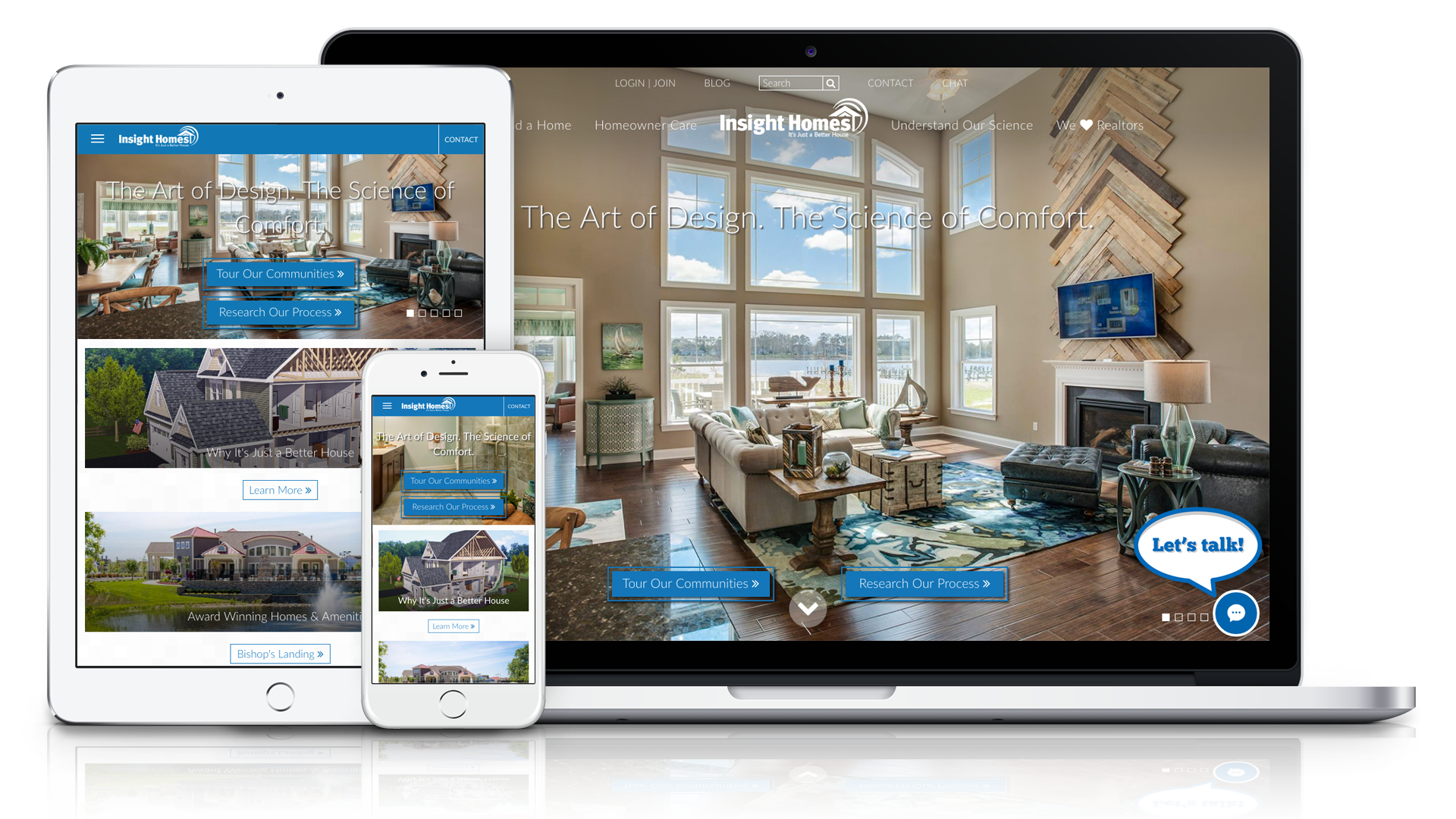 Home Builder Website Design For Insight Homes