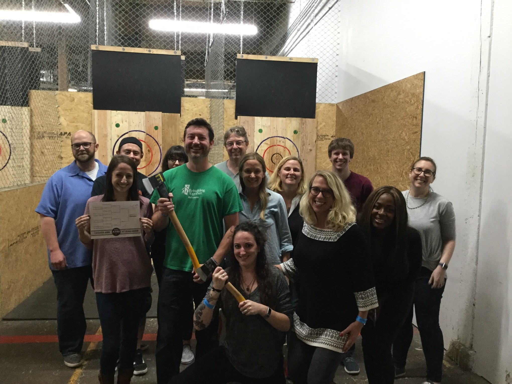 Office Party and Axe Throwing